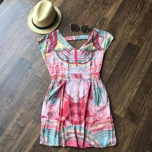 Multi colored dress w/ pockets. Small by Angie
